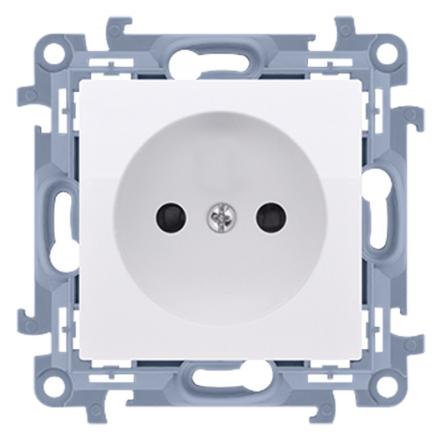 SIMON 10 Gniazdo pojedyncze bez uziemienia do ramki białe CG1.01/11