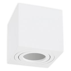 Oprawa natynkowa LED ALUMINIUM kwadratowa ruchoma biała + gniazdo GU10