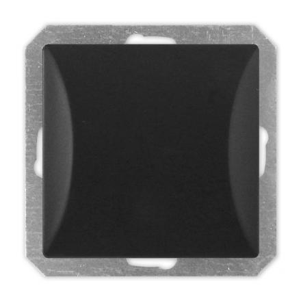TIMEX OPAL Wyłącznik łącznik pojedynczy MODUŁ DO RAMKI w kolorze czarnym