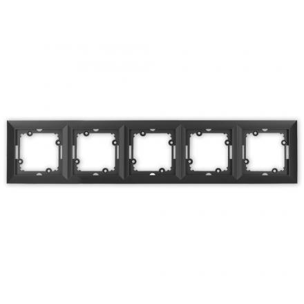 TIMEX OPAL Ramka pięciokrotna w kolorze czarnym