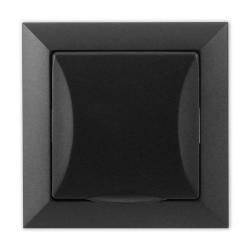 TIMEX OPAL Gniazdo bryzgoszczelne z uziemieniem czarny mat GPt-16 OpH CZ/MAT