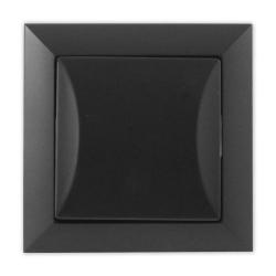 TIMEX OPAL Wyłącznik schodowy pojedynczy czarny mat WP-5 Op CZ/MAT