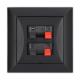 TIMEX OPAL Gniazdo głośnikowe kolumnowe podwójne czarny mat