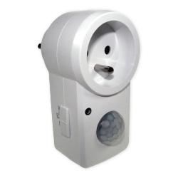 BOWI Czujnik ruchu sensor IR gniazdo zasilające biały