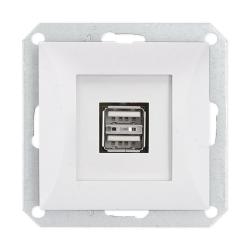 TIMEX OPAL Gniazdo ładowarka USB podwójna do ramki biała GŁ/USB-2/m Op BI
