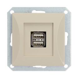 TIMEX OPAL Gniazdo ładowarka USB podwójna do ramki satyna GŁ/USB-2/m Op PI