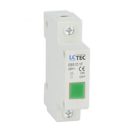 Lampka sygnalizacyjna kontrolna LED 1F zielona