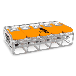 WAGO Szybkozłączka uniwersalna 5x0,5-6mm² transparentna 221-615