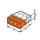WAGO Szybkozłączka na drut 3x0,5-2,5mm² transparentna 2273-203 opak. 100szt.