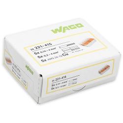 WAGO Szybkozłączka uniwersalna 5x0,2-4mm² transparentna 221-415 opak. 25szt.
