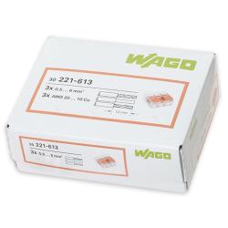 WAGO Szybkozłączka uniwersalna 3x0,5-6mm² transparentna 221-613 opak. 30 szt.