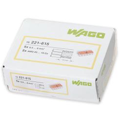 WAGO Szybkozłączka uniwersalna 5x0,5-6mm² transparentna 221-615 opak. 15szt.