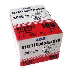 XBS Szybkozłączka na drut 2x0,5-2,5mm2 transparentna opak. 100 szt.