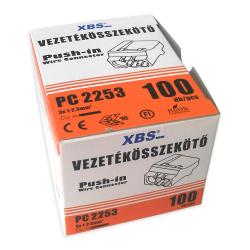 XBS Szybkozłączka na drut 3x1-2,5mm2 transparentna opak. 100 szt.