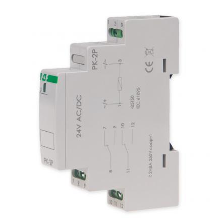 F&F Przekaźnik elektromagnetyczny 2x8A 24V AC/DC PK-2P