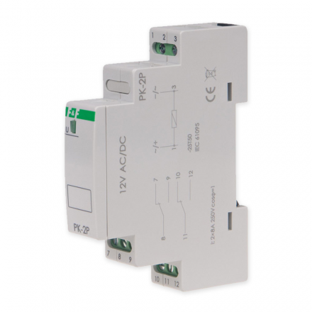 F&F Przekaźnik elektromagnetyczny 2x8A 12V AC/DC PK-2P