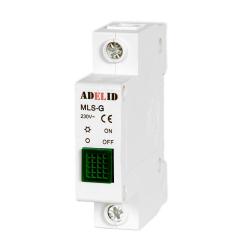 ADELID Lampka sygnalizacyjna kontrolna LED 1F zielona MLS-G