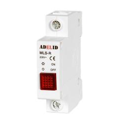 ADELID Lampka sygnalizacyjna kontrolna 1F czerwona MLS-R