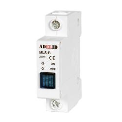 ADELID Lampka sygnalizacyjna kontrolna 1F niebieska MLS-B