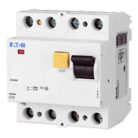 EATON Wyłącznik różnicowo-prądowy 4P 63A 30mA typ AC CFI6-63/4/003 235792