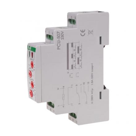 F&F Przekaźnik czasowy 2P 2x8A 230V AC opóźnione zał/wył PCU-507