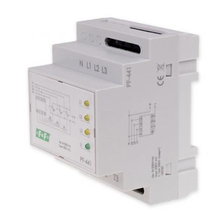 F&F Automatyczny przełącznik faz do współpracy ze stycznikami 16A PF-441