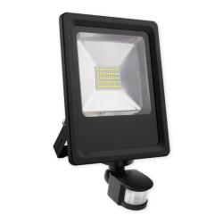 LUMINOVA Naświetlacz LED z czujnikiem ruchu IP65 SMD 50W barwa zimna