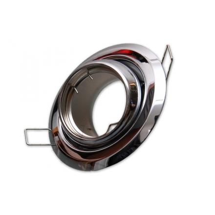 Oprawa oprawka halogenowa okrągła rybie oko ruchoma chrom