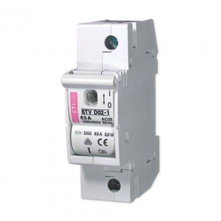 ETI Rozłącznik bezpiecznikowy na wkładki D02 1P 63A STV 002271001