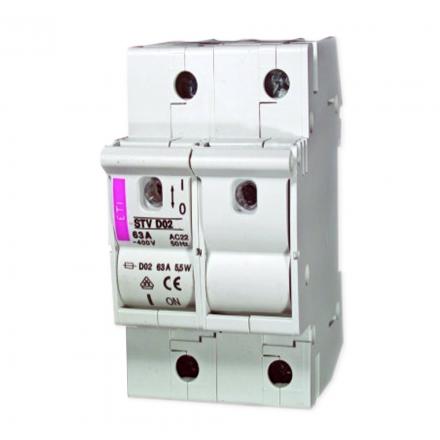 ETI Rozłącznik bezpiecznikowy na wkładki D02 2P 63A STV D02 002271003