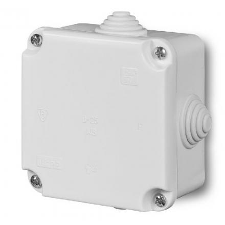 ELEKTRO-PLAST Puszka elektroinstalacyjna odgałęźna natynkowa IP44 biała 0242-00