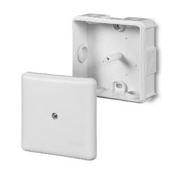 ELEKTRO-PLAST Puszka elektroinstalacyjna PK-1 odgałęźna natynkowa IP55 biała 0224-00