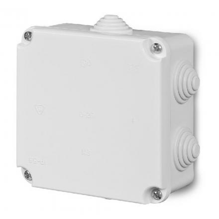 ELEKTRO-PLAST Puszka elektroinstalacyjna PK-2 odgałęźna natynkowa IP55 biała 0222-00