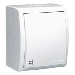 SIMON AQUARIUS Wyłącznik łącznik krzyżowy natynkowy hermetyczny IP54 biały AQW7/11