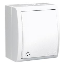 """SIMON AQUARIUS Przycisk łącznik zwierny """"dzwonek"""" natynkowy hermetyczny IP54 biały AQD1/11"""