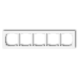 KARLIK DECO Ramka pięciokrotna biała DR-5