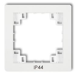 KARLIK DECO Ramka pośrednia do łączników SITODRUK IP44 biała DRPH