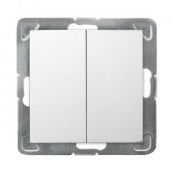 OSPEL IMPRESJA Łącznik świecznikowy (podwójny) do ramki biały ŁP-2Y/m/00