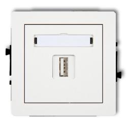 KARLIK DECO Gniazdo pojedyncze USB 2.0 białe DGUSB-1
