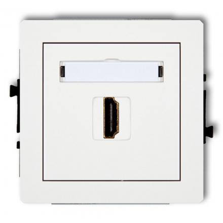 KARLIK DECO Gniazdo pojedyncze HDMI białe DHDMI-1