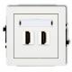 KARLIK DECO Gniazdo podwójne HDMI białe DHDMI-2