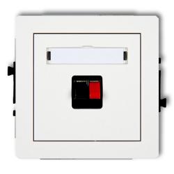 KARLIK DECO Gniazdo pojedyncze głośnikowe białe DGG-1