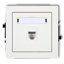 KARLIK DECO Gniazdo telefoniczne pojedyncze RJ11 białe DGT-1