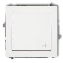 KARLIK DECO Łącznik pojedynczy krzyżowy do ramki biały DWP-6