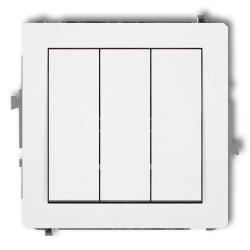 KARLIK DECO Łącznik potrójny do ramki biały DWP-7