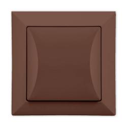 TIMEX OPAL Wyłącznik pojedynczy podświetlany brązowy WP-1S/Op BR