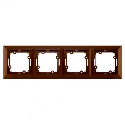 TIMEX OPAL Ramka poczwórna brązowa Ra-4/Op BR