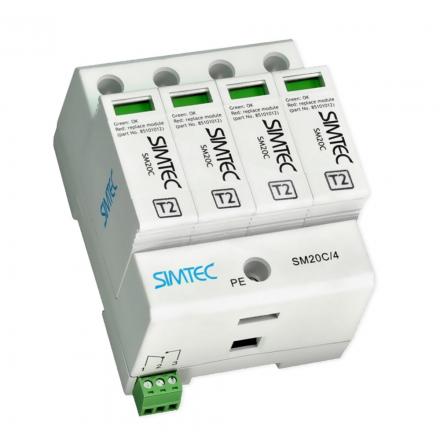 SIMET Ogranicznik ochronnik przepięć 4P 20kA klasa C SM20C/4 85102000
