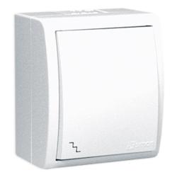 SIMON AQUARIUS Wyłącznik łącznik schodowy natynkowy hermetyczny IP54 biały AQW6/11