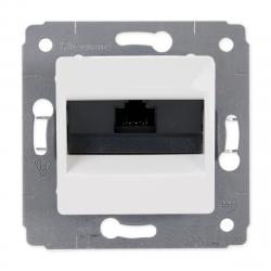Legrand CARIVA Gniazdo komputerowe 1xRJ45 kat. 6 UTP do ramki białe 773641